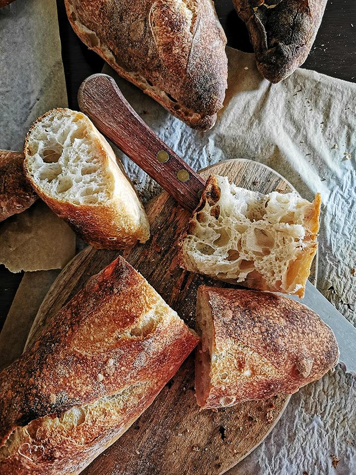 Mini baguette rustica con lievito madre