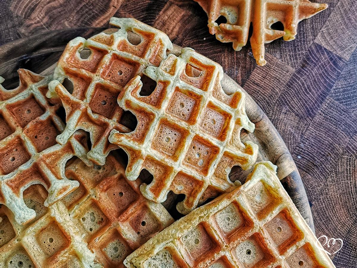 Waffle con esubero di lievito madre