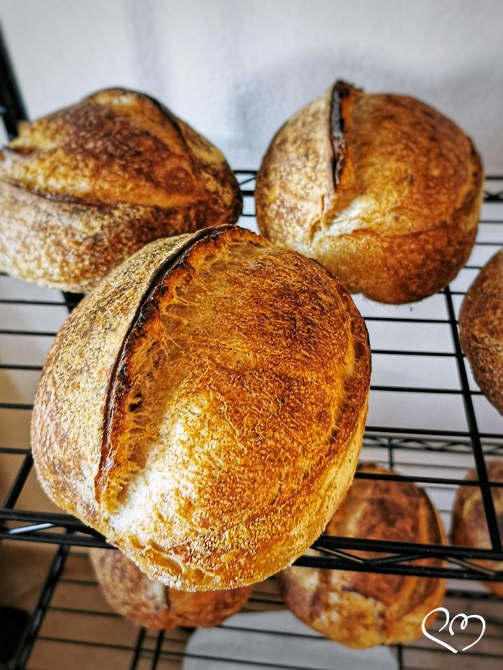 Pane con lievito madre ad alta idratazione - Raffreddamento